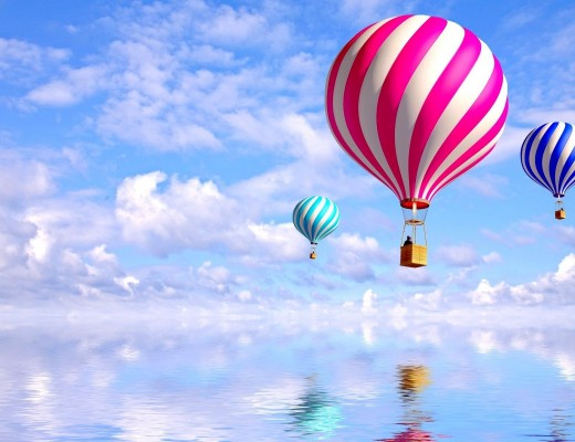 balloons_flying_sky_striped_54350_3840x2400